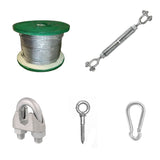 Heavy Duty Indoor/Outdoor Hardware Kit - sliding cable system (Hardware Only)