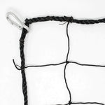 JFN #36 Nylon Soccer/Football Backstop Black Net, 10' X 30' Premade