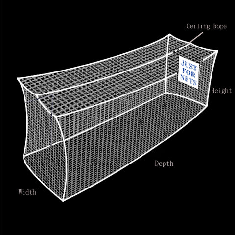 JFN Heavy Duty Cricket Indoor Practice Cage, White