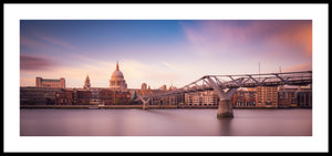 St Pauls' Cathedral and the Millennium Bridge