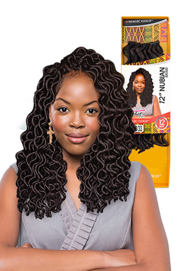 Magic Gold Nubian Braid 12