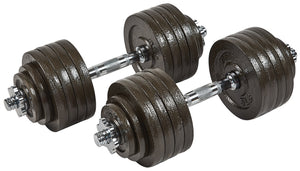 BalanceFrom Contoured Handle Cast Iron Adjustable Dumbbell Weight Sets