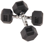 BalanceFrom Rubber Encased Hex Dumbbell in Pairs, 10-50 lbs