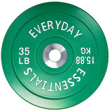 Everyday Essentials Color Coded Olympic Bumper Plate Weight Plate w Steel Hub