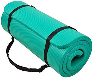 BalanceFrom GoCloud All-Purpose 1-Inch Extra Thick Anti-Tear Exercise Yoga Mat with Strap