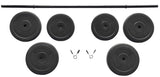 BalanceFrom Vinyl Standard Weight Set, 100 lbs