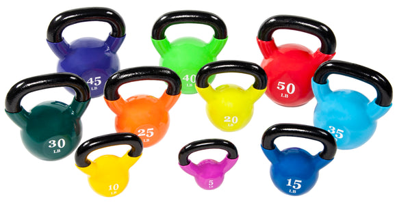 BalanceFrom All-Purpose Color Vinyl Coated Kettlebells