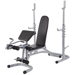 BalanceFrom RS 60 Multifunctional Workout Station Adjustable Olympic Workout Bench with Squat Rack