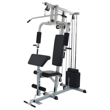 BalanceFrom RS 80 Home Gym Workout Station with 330LB of Resistance, Comes with Installation Video