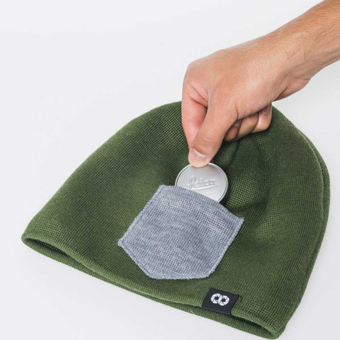 pocket for lens cap - Beanie WINTER - COOPH store