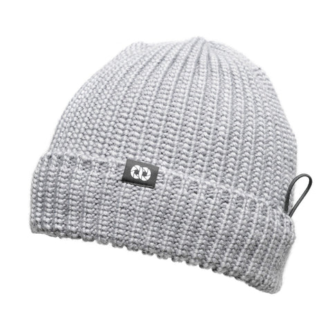 heathergray- Pouch Beanie KNIT (short)