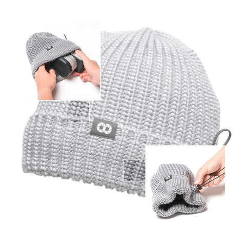 heathergray - Pouch Beanie KNIT (short)