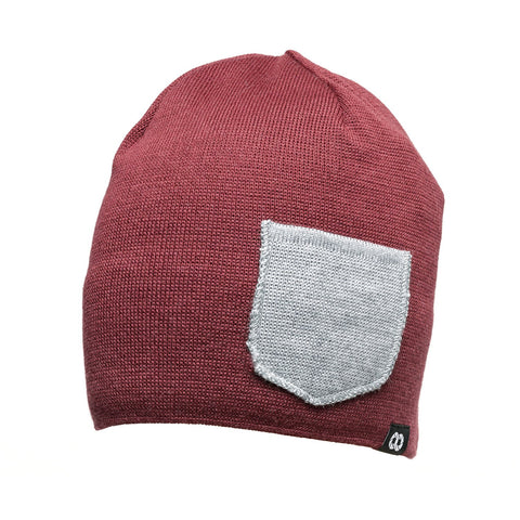 tibetanredheathergray- Beanie Winter