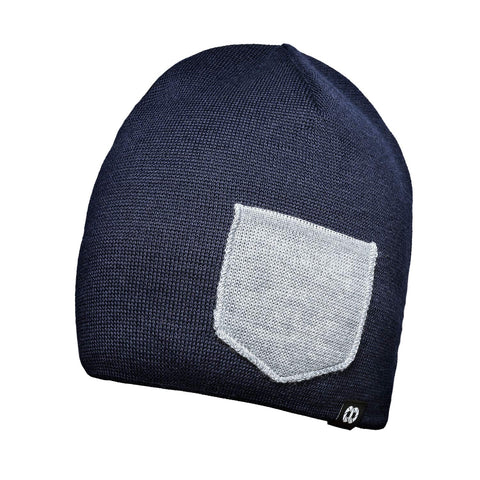 Beanie WINTER - Navy/Heather gray- Beanie WINTER