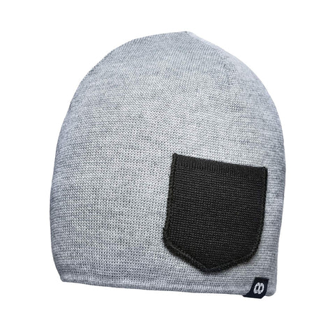 heathergrayblack- Beanie Winter