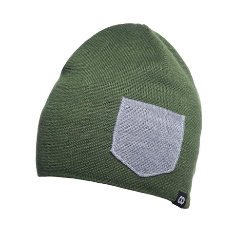mossgreenheathergray- Beanie Winter