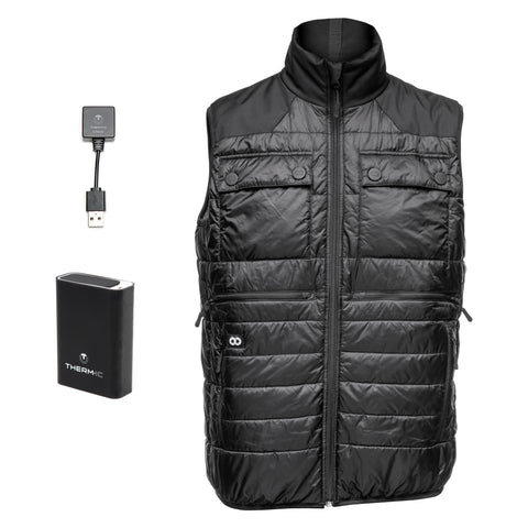 Heatable Photo Vest Black THERM-IC Bundle- Heatable Photo Vest Black THERM-IC Bundle