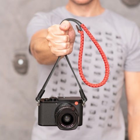 Leica Paracord Strap - Red/Black - Leica Paracord Strap - Red/Black - COOPH store