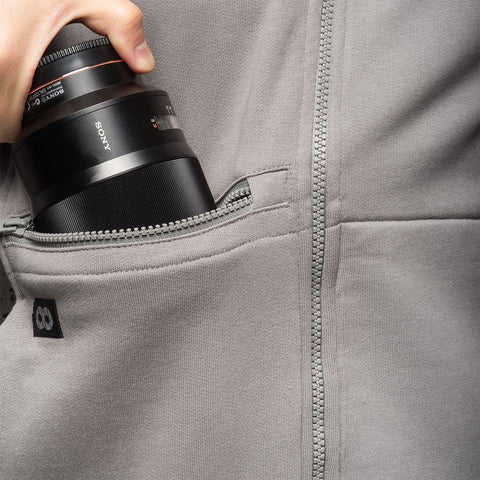 lens pocket with zip - Hoodie ORIGINAL RAGLAN - COOPH store