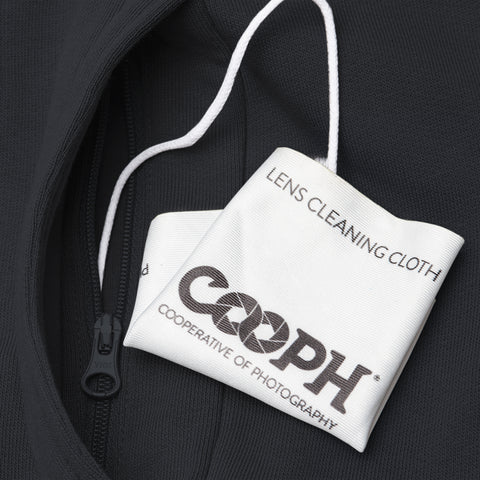 lens cleaning cloth in hidden pocket - Hoodie ORIGINAL RAGLAN - COOPH store
