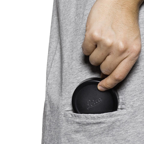 pocket for lens cap - T-Shirt OBJECTIFYER - Light Gray - COOPH store