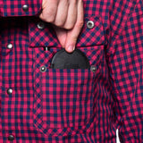 double pocket to safely stash lens cap