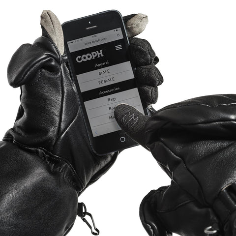 full touch screen control on thumb and forefinger - Photo Glove ULTIMATE - COOPH store