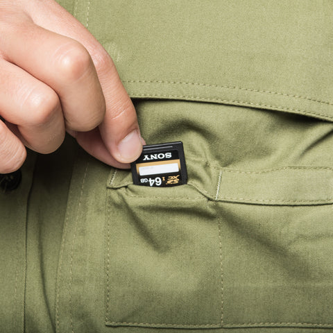 special memory card pockets - Big Pocket Shirt THE HUNTER - COOPH store