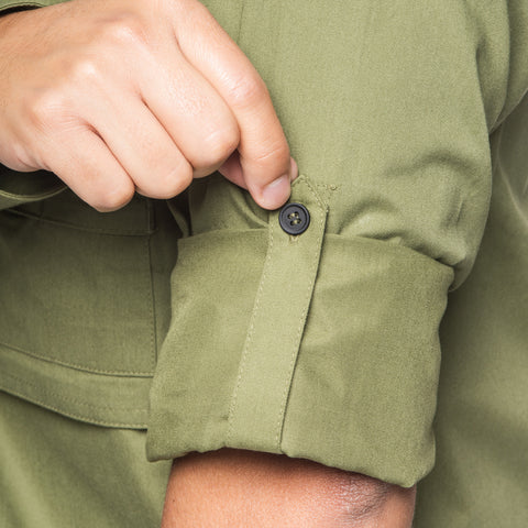 buttonable roll-up sleeves - Big Pocket Shirt THE HUNTER - COOPH store