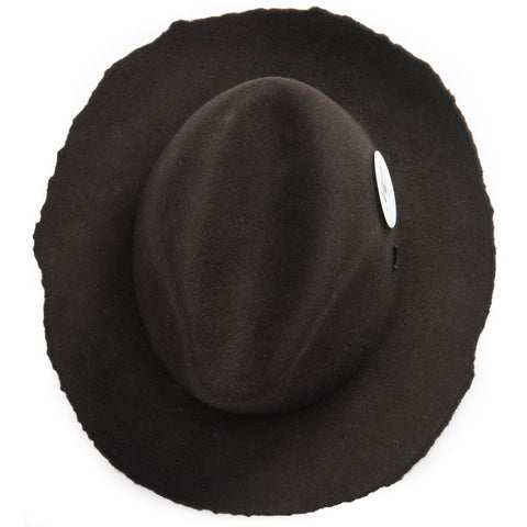 ripped edges for rugged look - Elements Hat - Dark brown - COOPH store