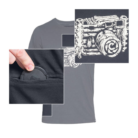 features - T-Shirt SKELETOGRAPHER - COOPH store