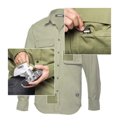 features - Big Pocket Shirt THE HUNTER - COOPH store