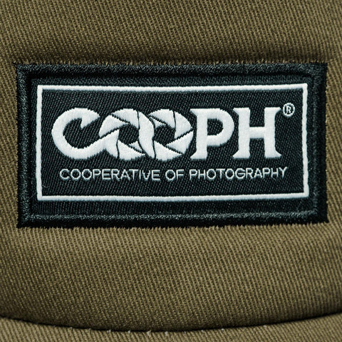 stitched-on COOPH label  - Gray Chart Cap ORIGINAL - COOPH Cooperative of Photography GmbH