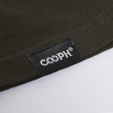 stitched-on COOPH label