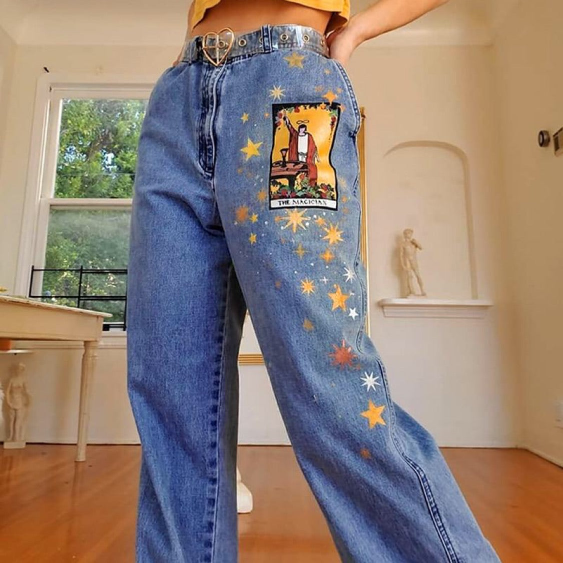 Star Cartoons Printed Jeans - Cila Clothing