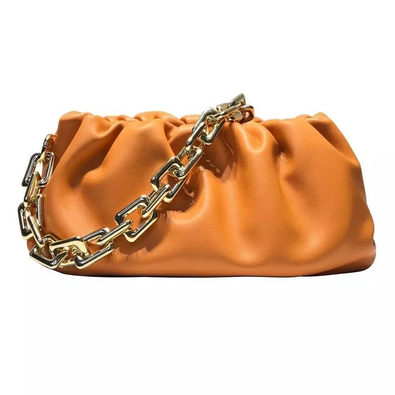 Sweet Gal - Orange Chain Pouch Bag - Cila Clothing