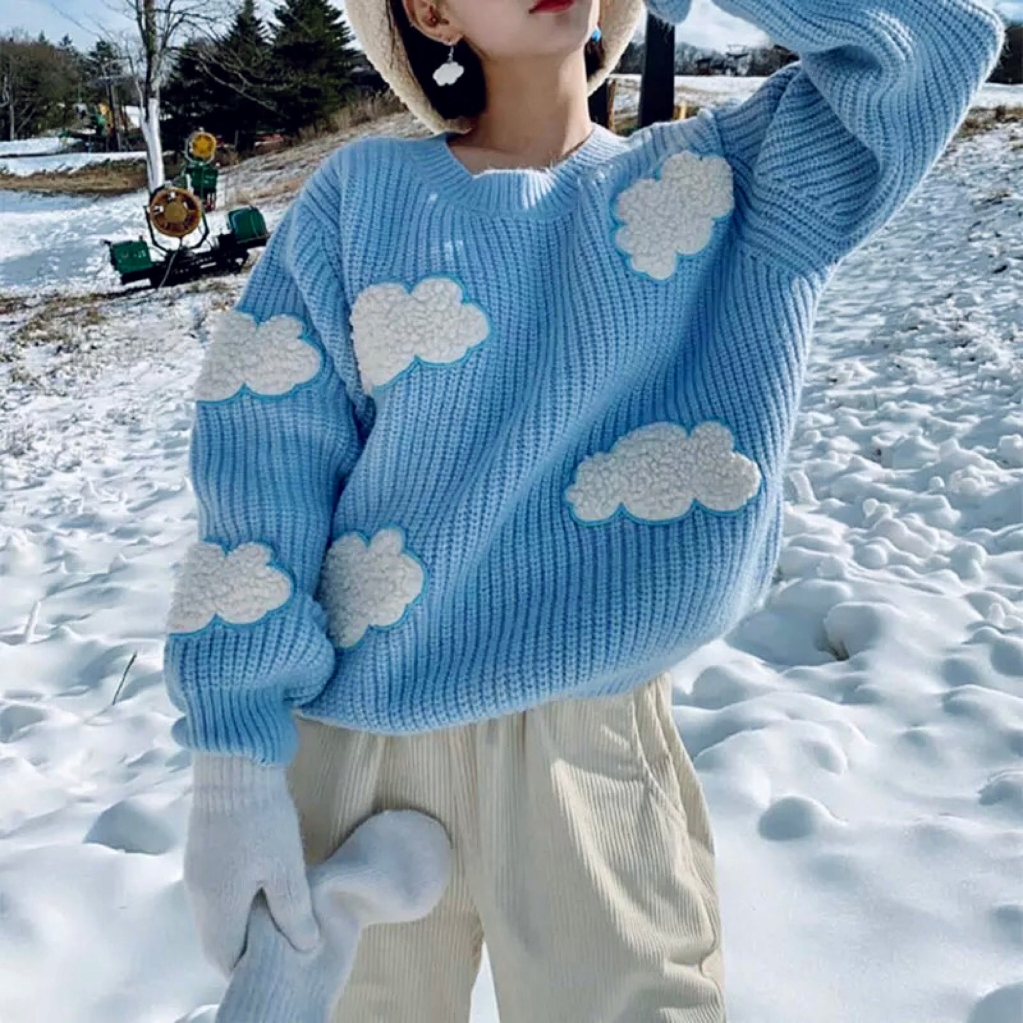Cozy Clouds Sweater - Cila Clothing