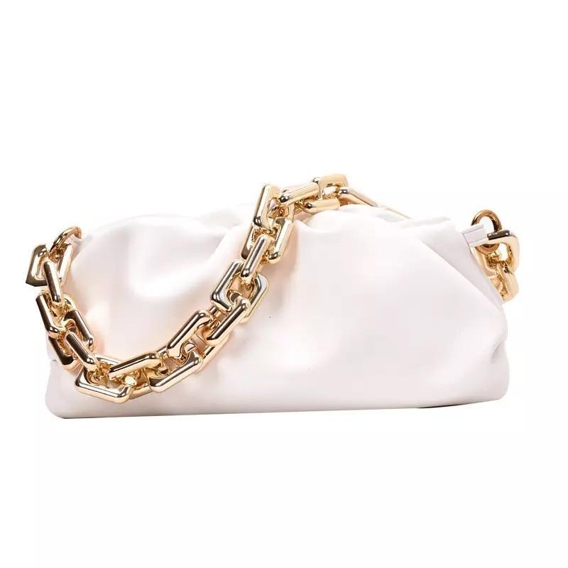 Sweet Gal - White Chain Pouch Bag - Cila Clothing