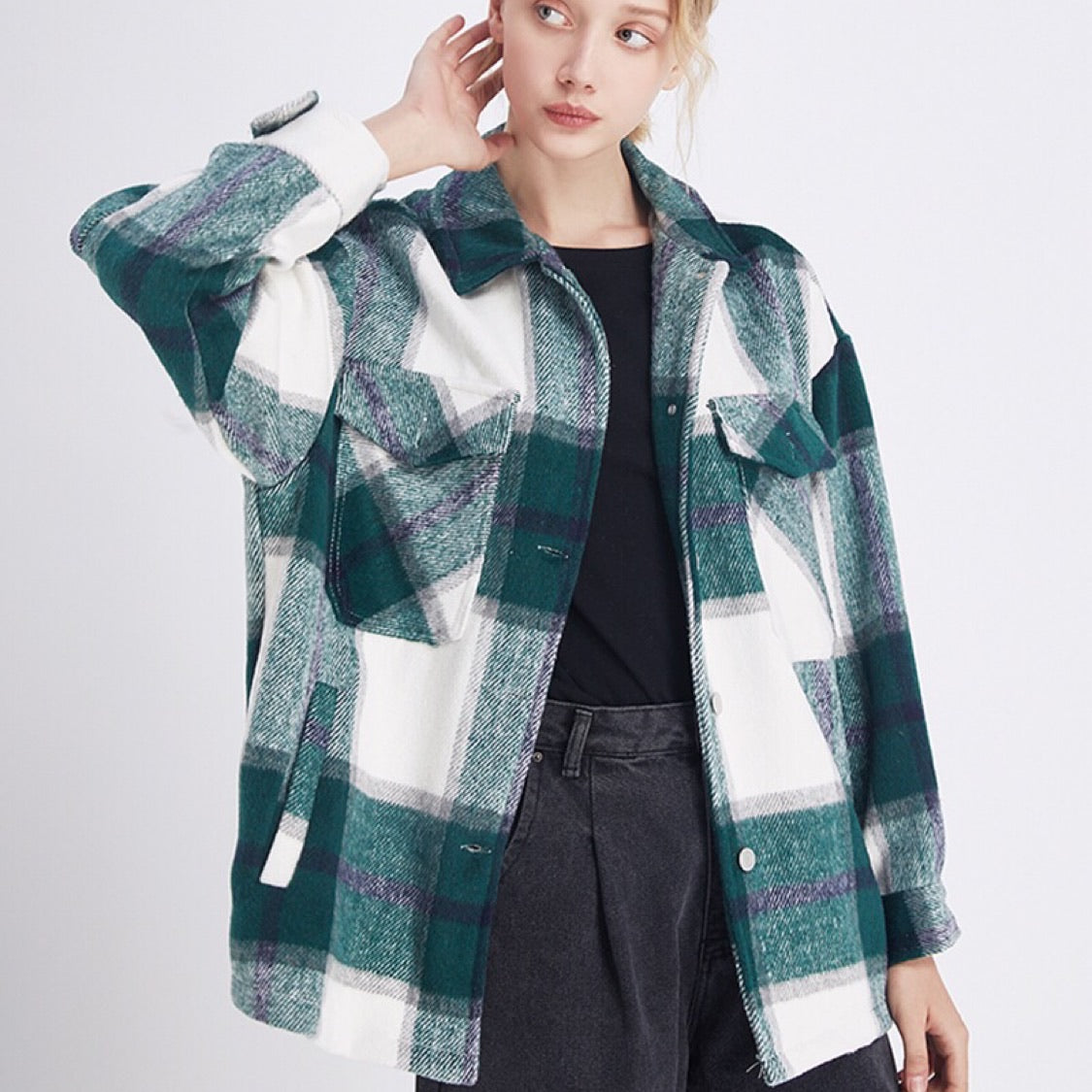 Vintage Oversized Plaid Jacket - Oh, Sassy!