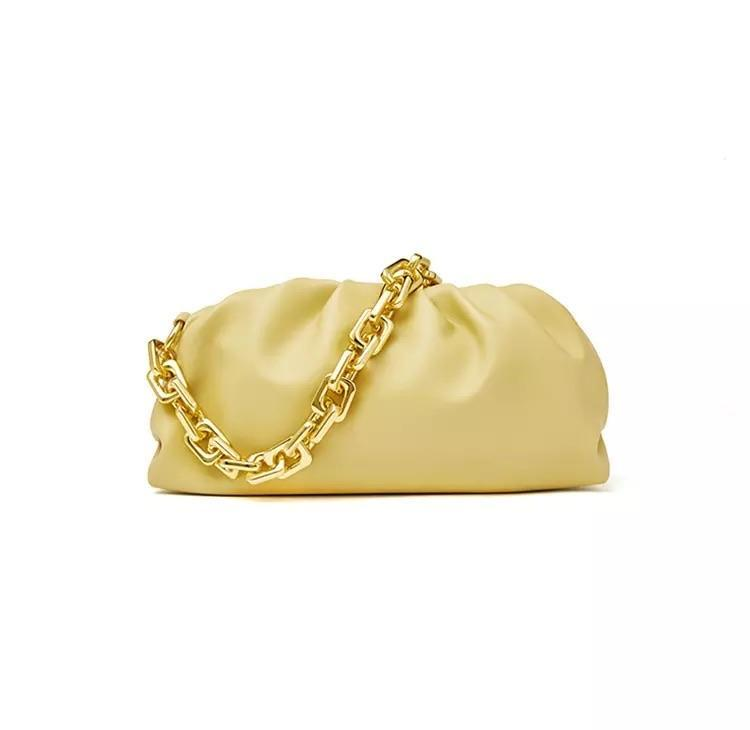 Sweet Gal - Yellow Chain Pouch Bag - Cila Clothing