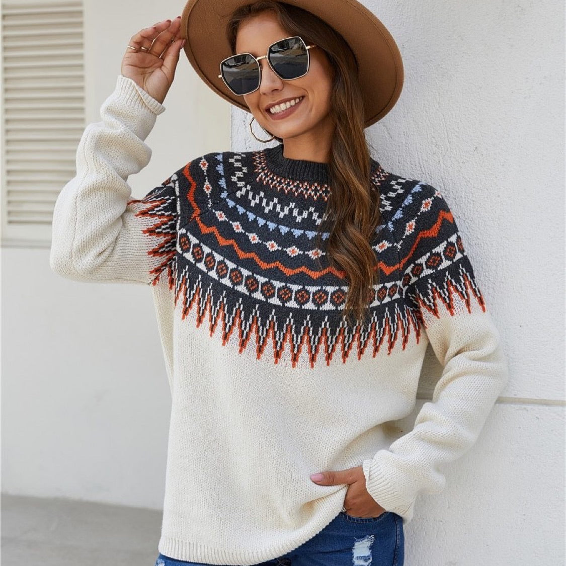 Vintage Ethnic Sweater - Cila Clothing