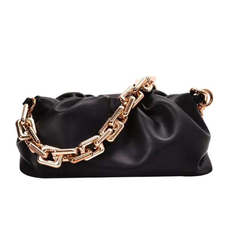 Sweet Gal - Black Chain Pouch Bag - Cila Clothing