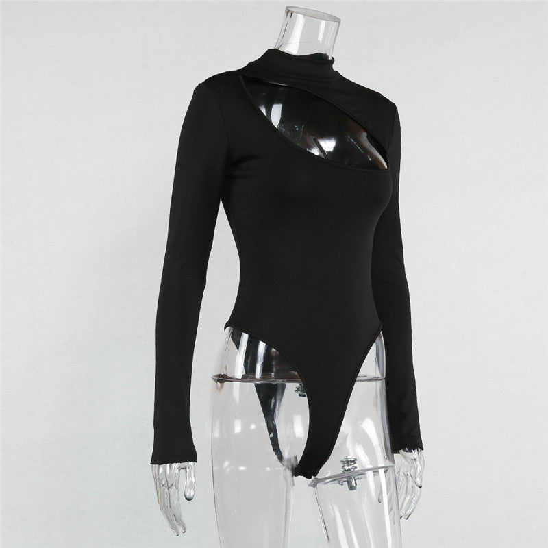 Turtleneck Hole Bodysuit - Cila Clothing