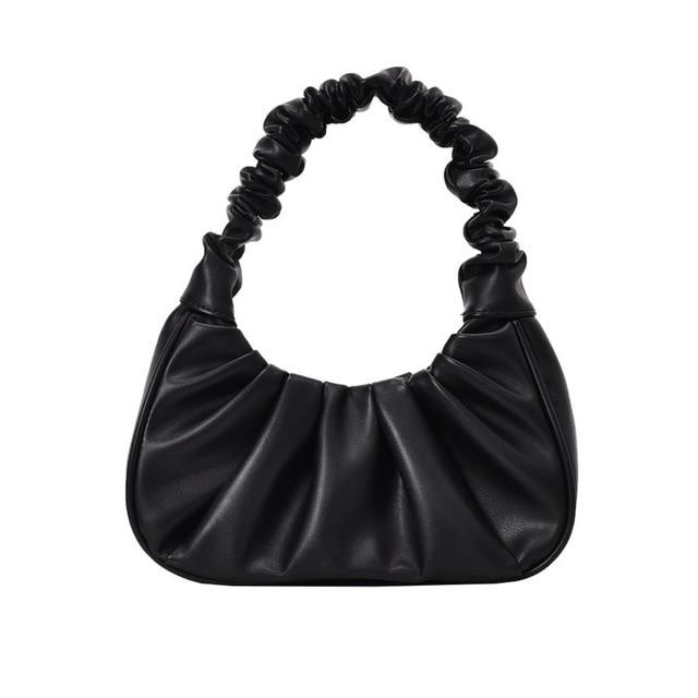 Sweet Gal - Black Pleated Handbag Oh, Sassy!