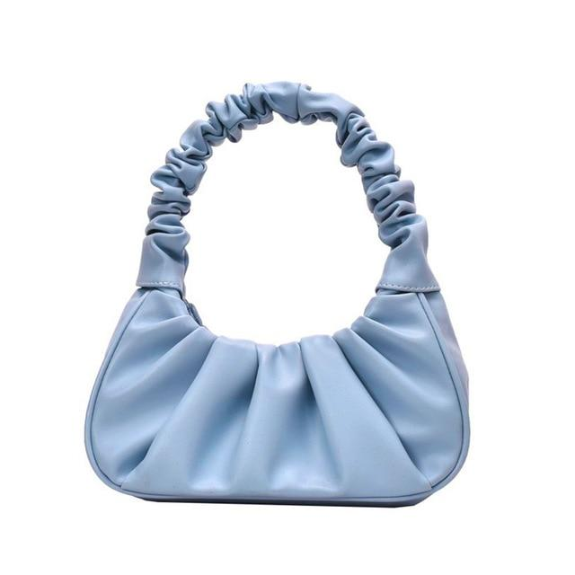 Sweet Gal - Blue Pleated Handbag - Oh, Sassy!