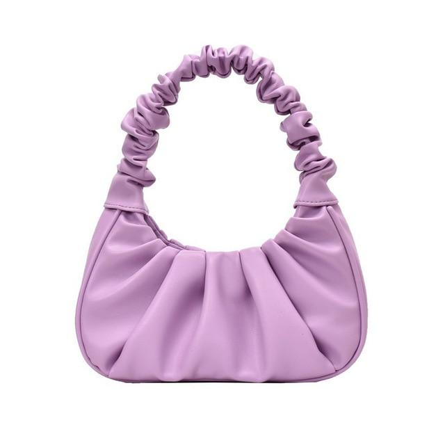 Sweet Gal - Purple Pleated Handbag Oh, Sassy!
