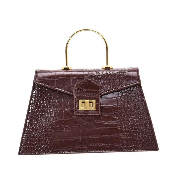 Retro - Coffee Croc Effect Tote Bag - Oh, Sassy!