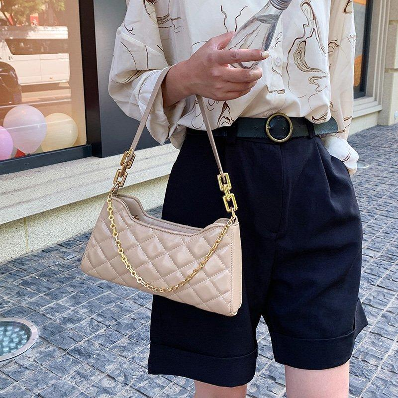 Sweet Gal - Quilted Shoulder Bag - Cila Clothing