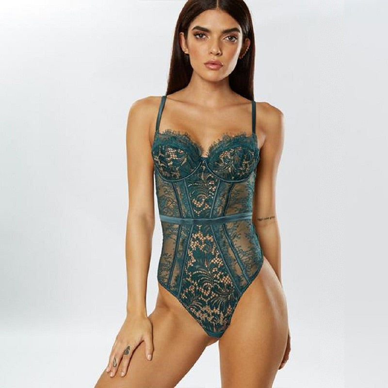 Sexy Lace Bodysuit - Cila Clothing