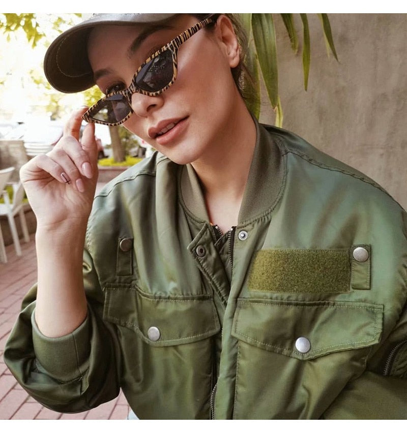 Green Bomber Jacket - HOUSE OF SIONNE
